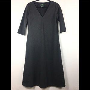 Ralph Lauren wool blend midi dress size 6